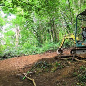 trail building mtb genova